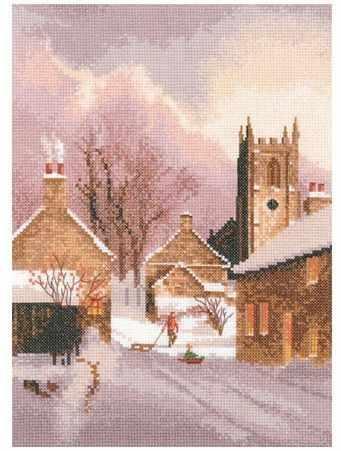 JCSY1305 Деревня в снегу