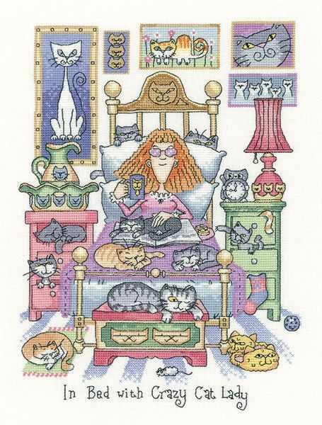 CRIB1331 Леди с котами