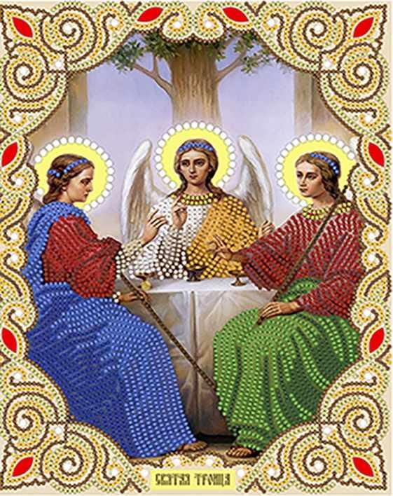 ИСА4-029 Святая Троица - схема для вышивания (Наследие)