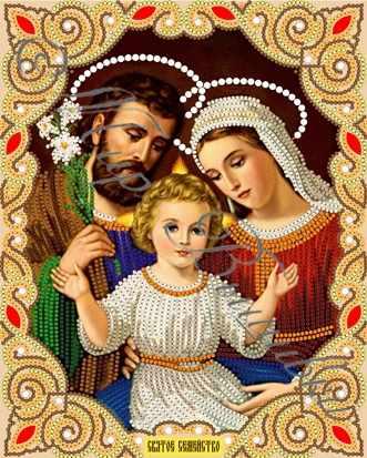 ИСА4-030 Святое семейство - схема для вышивания (Наследие)