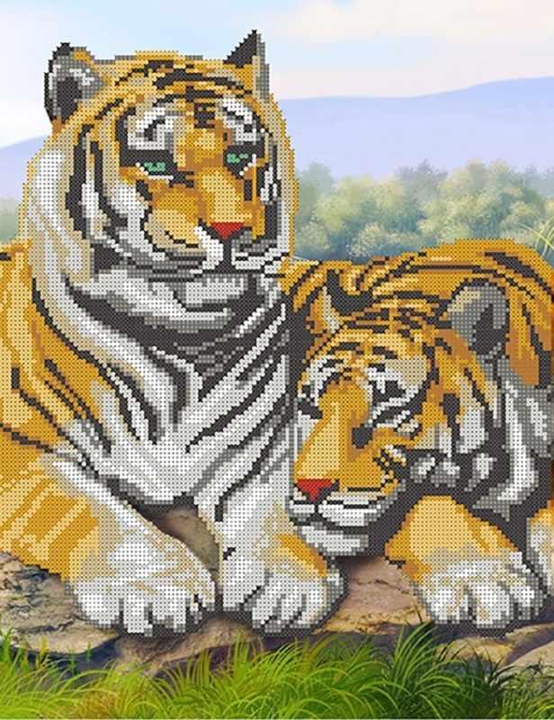 КБ-149 Пара тигров - схема для вышивания (Наследие)