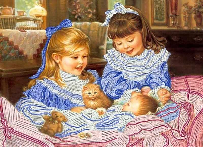 КБ-216 Детское счастье - схема для вышивания (Наследие)
