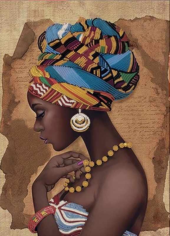КБ-341 Африканка - схема для вышивания (Наследие)