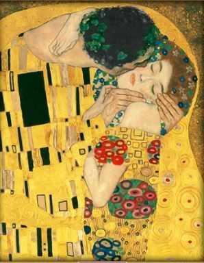 Алмазная вышивка Поцелуй  (АЖ-1530) -  картина стразами