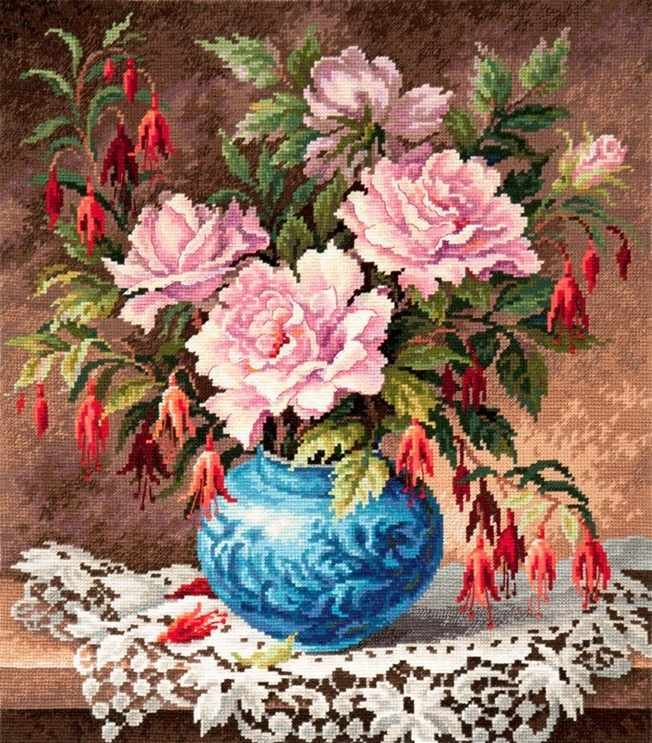 40-75 Розы и фуксии