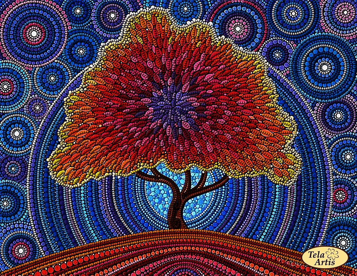 ТА-341 - Дерево счастья - схема для вышивания (Tela Artis)