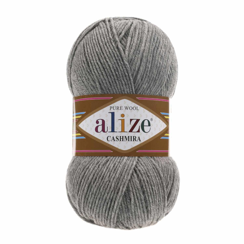 Пряжа Alize Cashmira Цвет.21 серый меланж