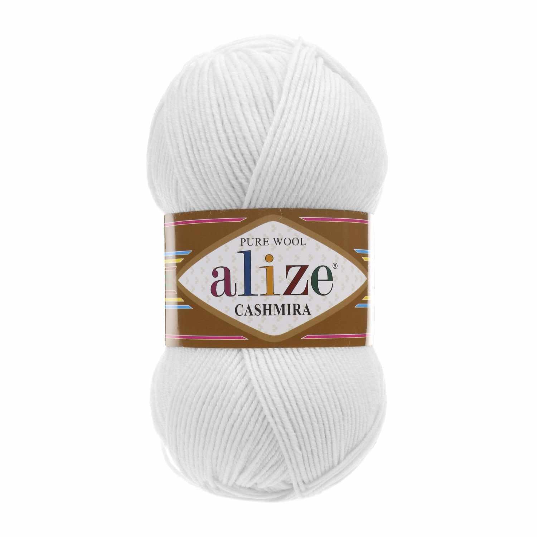 Пряжа Alize Cashmira Цвет.55 Белый