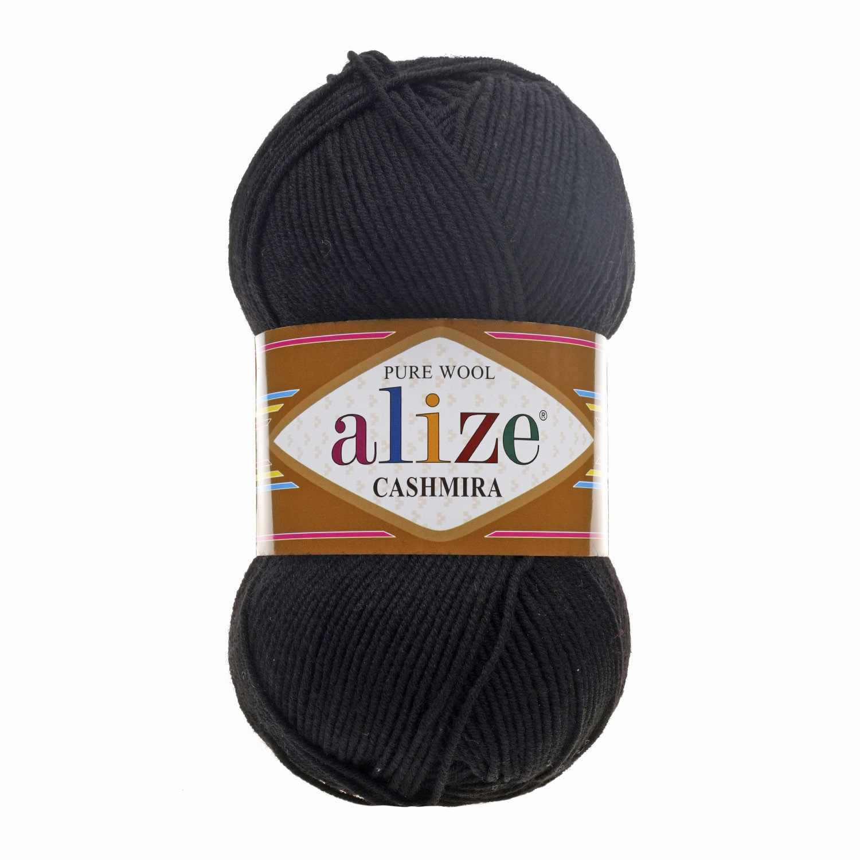 Пряжа Alize Cashmira Цвет.60 Чёрный