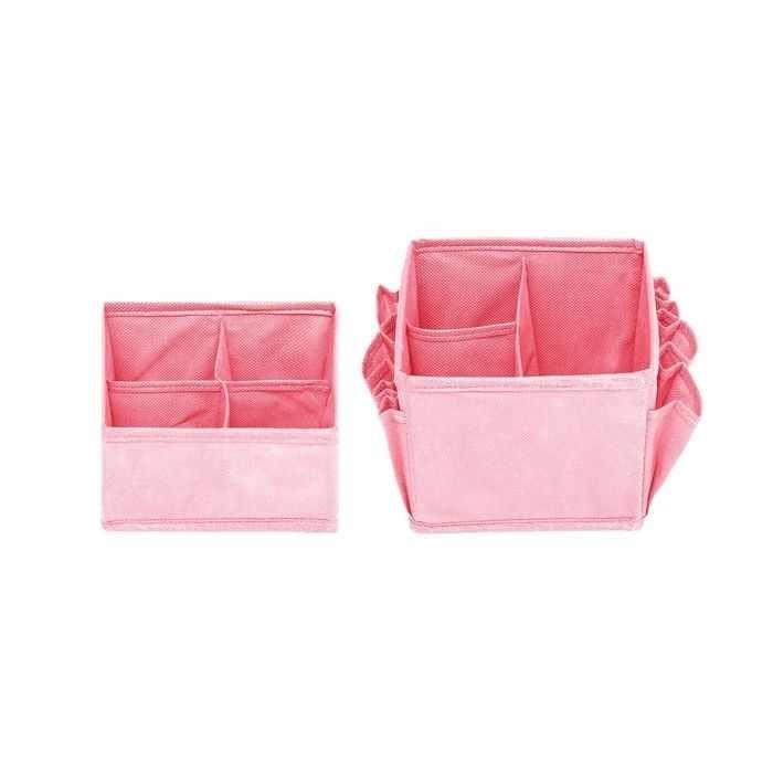 2390433 Набор органайзеров для косметики, цвет розовый