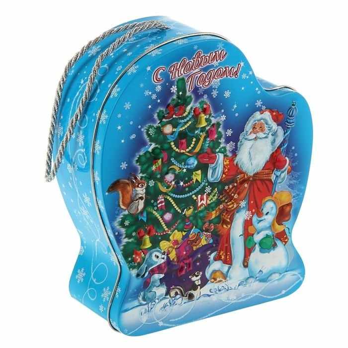 "1627217 Подарочная коробка ""Дед Мороз и внучка"", рукавичка"
