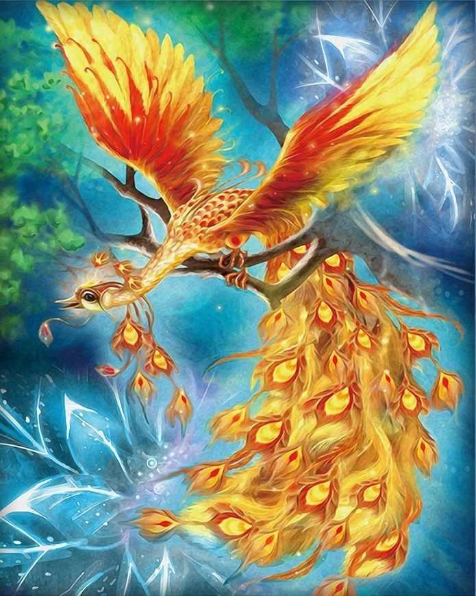 Алмазная вышивка Жар-птица (АЖ-1554) - картина стразами