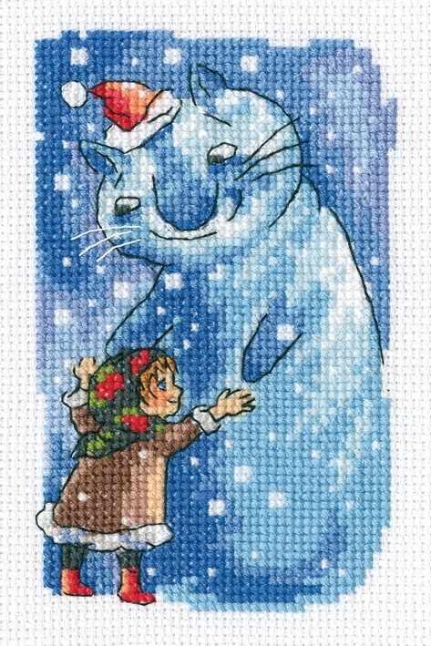 EH380 - Девочка и снегокот