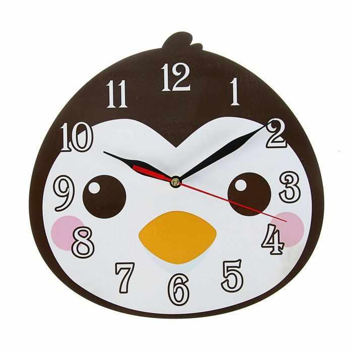 """2497896 Часы """"Пингвин"""" детские, фигурные"""
