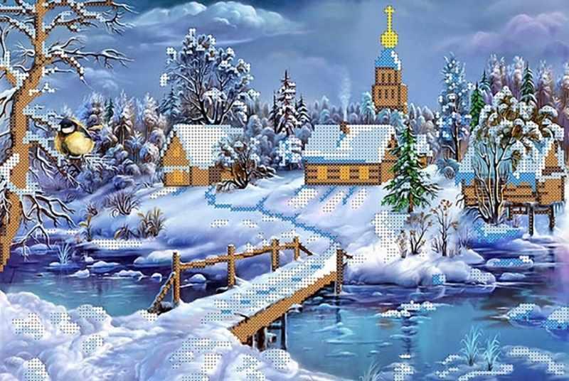КБ-079 Уютная зима - схема для вышивания (Наследие)