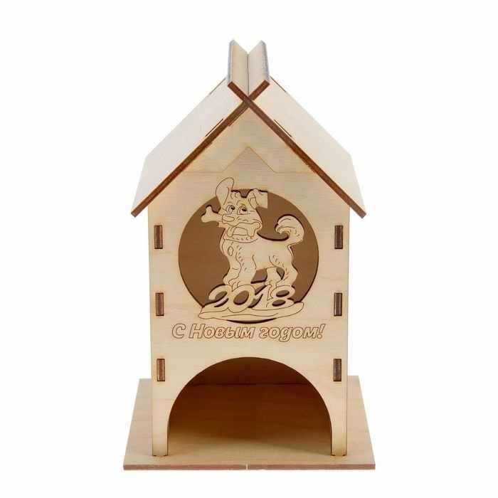 2714963 Чайный домик «Собачка с костью», заготовка для творчества