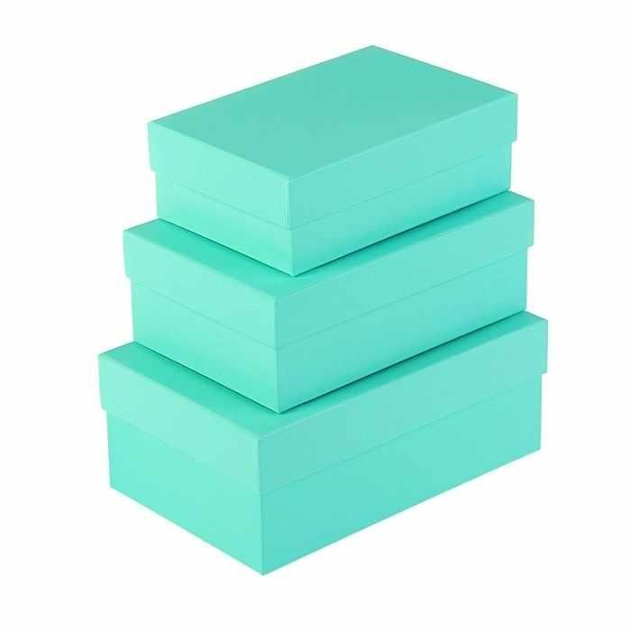 """2928628 Набор коробок 3в1 """"Салатовый однотонный"""""""