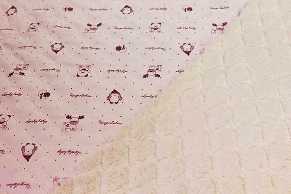 Ткань пледовая-мех цв.розовый (50*90 см)