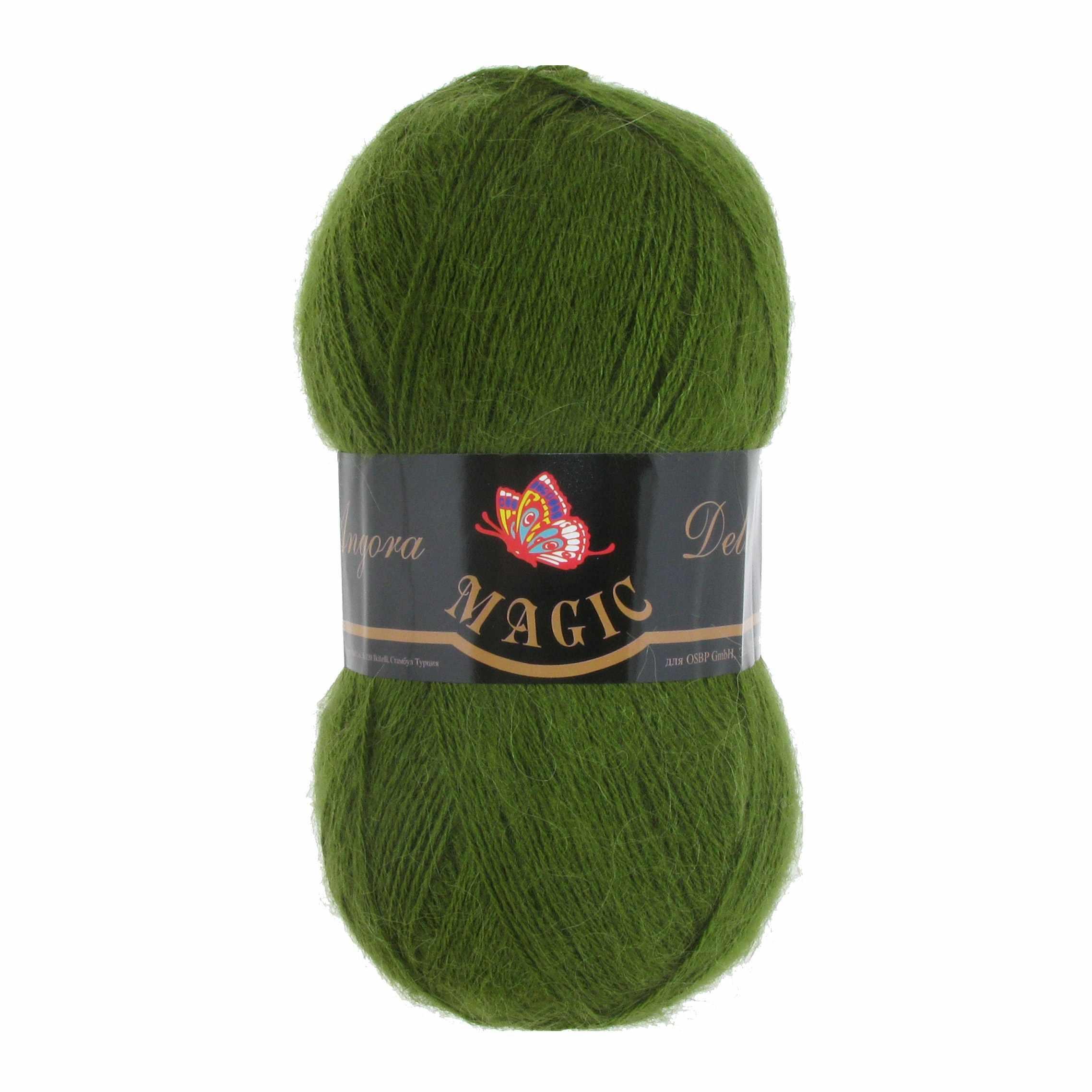 Пряжа Magic Angora Delicate Цвет.1108 Зеленый кедр