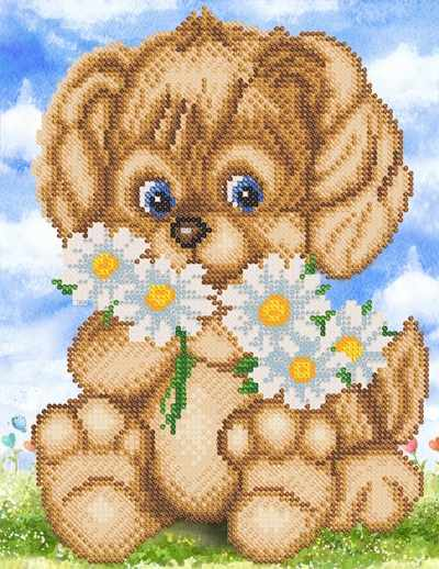 РКП-4-071 Веселый щенок - схема для вышивания (Марiчка)