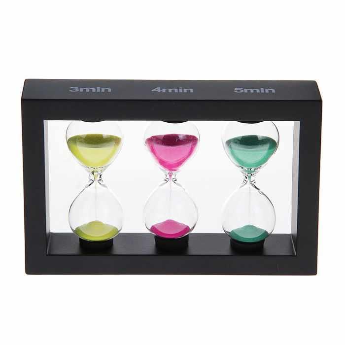 """1116713 Песочные часы, 3, 4, 5 мин """"Франческа"""", цвета МИКС"""