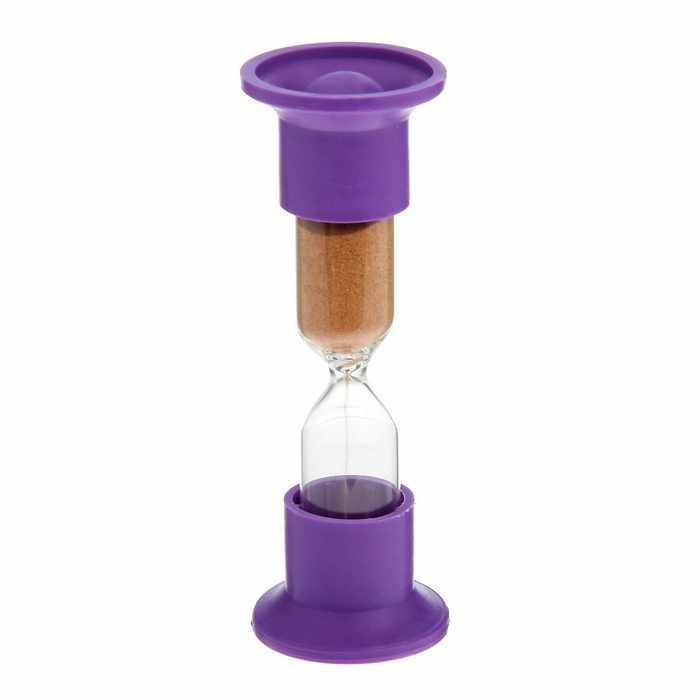 1546055 Часы песочные настольные на 10 минут микс