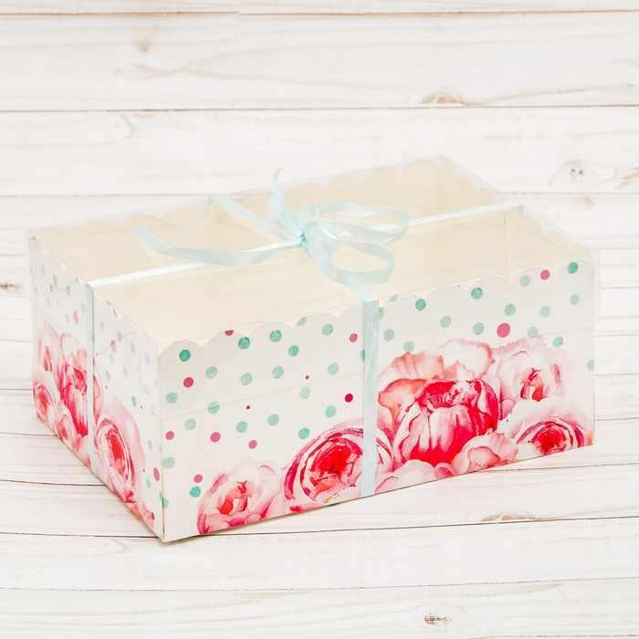 """2741914 Коробка для капкейка """"Для самой прекрасной"""""""