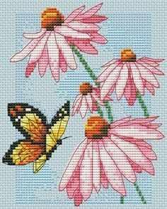 65046-DMS Бабочка и цветы