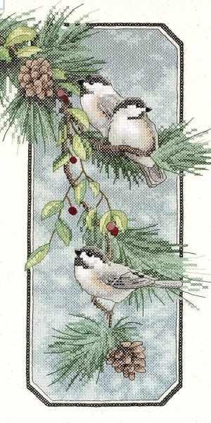 3199-DMS Пташки на ветке