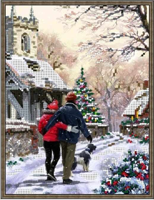 Б-4391 - Зимняя прогулка - схема для вышивания (Алёшкина любовь)