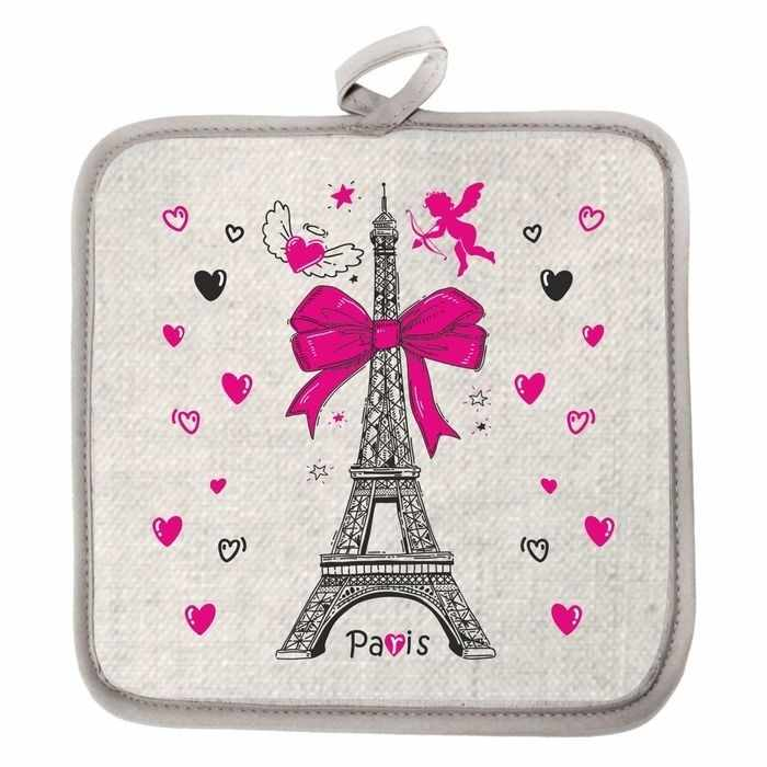 2515563 Прихватка Париж,полулён шелкография