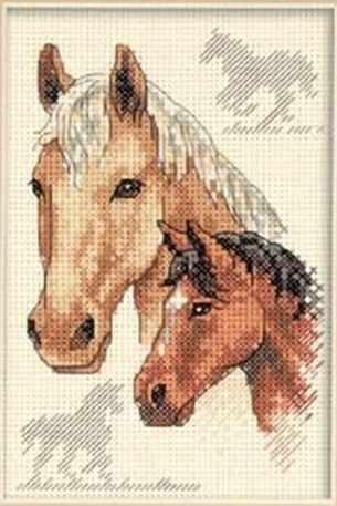 6889-DMS Пара лошадей