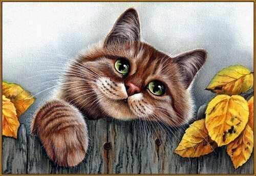 N-339 Рыжий кот - мозаика Милато