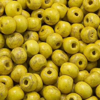 УТ0003356 Бусины дерево круглые (S612) 7мм Желтый