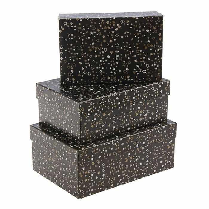 """1609080 Набор коробок 3в1 """"Звездное небо"""""""