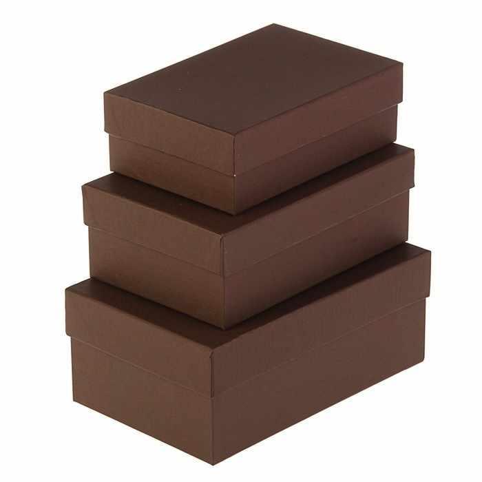 """3005674 Набор коробок 3в1 """"Кофе"""""""