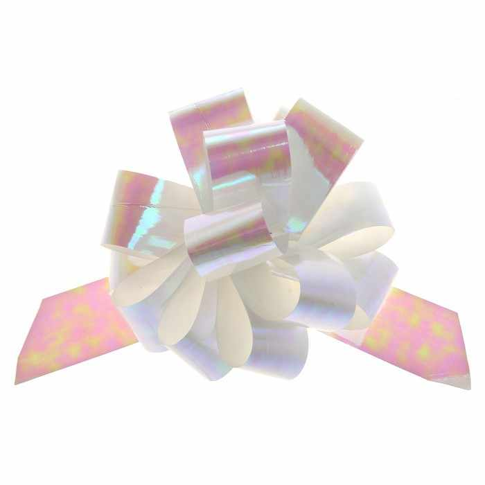817786 Бант-шар №3 перламутровый, цвет белый