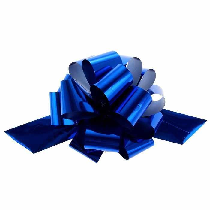818144 Бант-шар №5 металлик, цвет синий