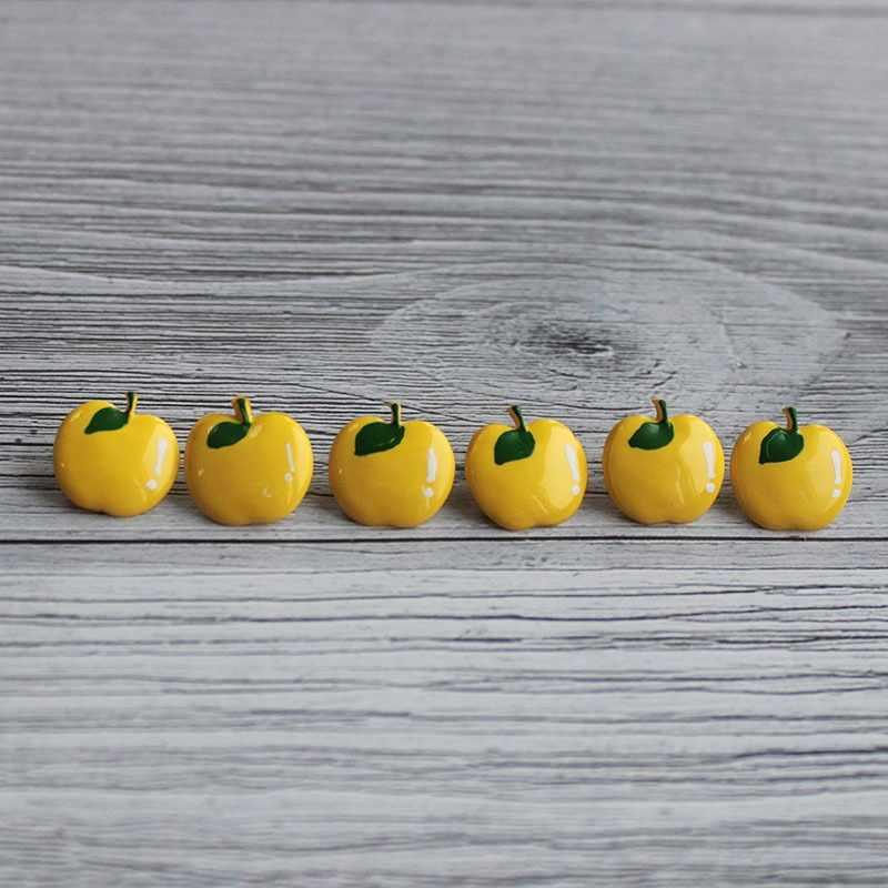 AY 10017 22 Пуговицы детские №D131 ярко-желтый, 6 шт