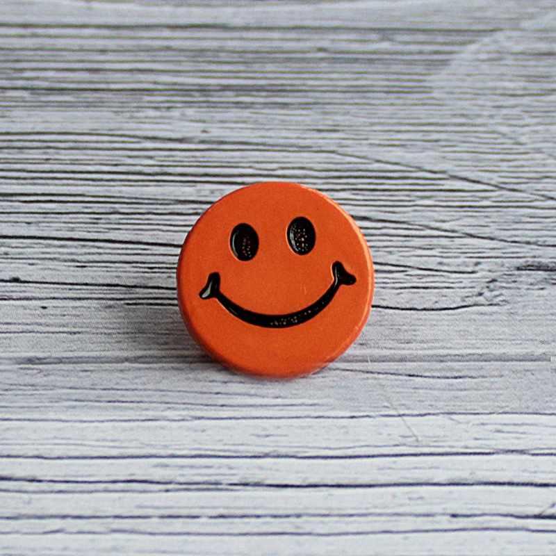 AY 7600 24 Пуговицы детские №D006 оранжевый, 6 шт