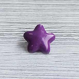 AY 9700 24 Пуговицы детские №D284 фиолетовый, 6 шт