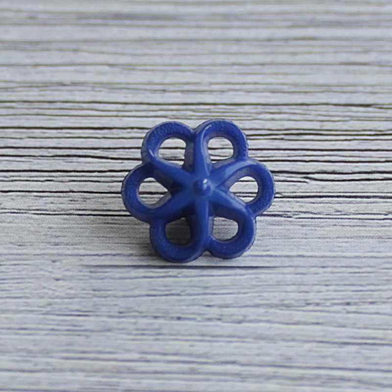 AY 9906 24 Пуговицы детские № D266 синий, 6 шт