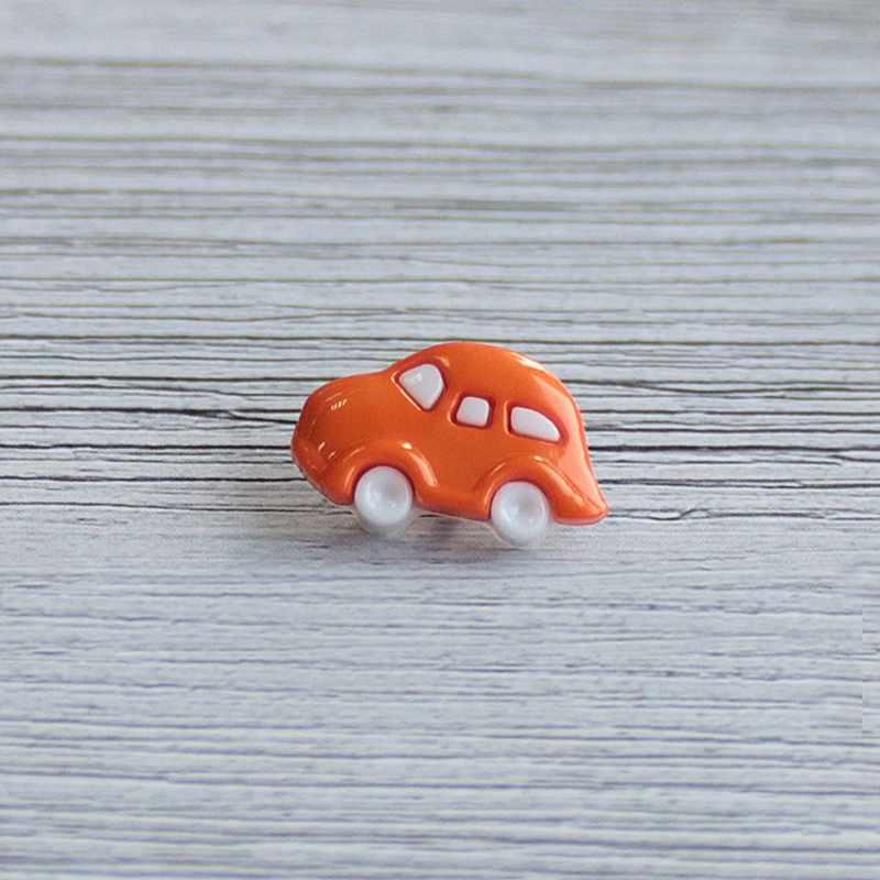 AY 9908 28 Пуговицы детские №501/006 белый/оранжевый, 6 шт
