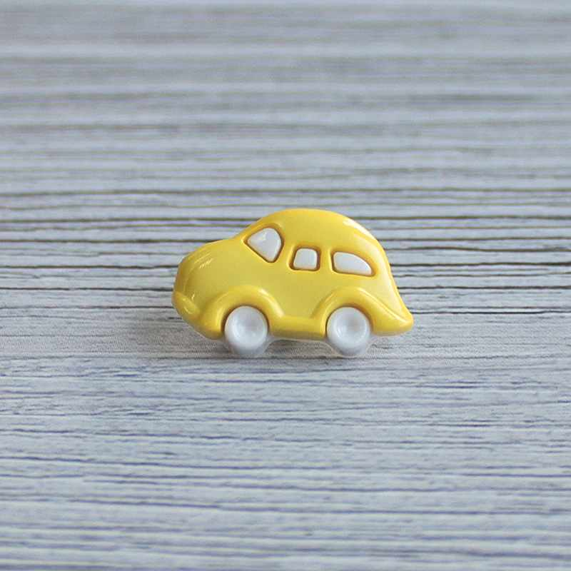 AY 9908 28 Пуговицы детские №501/504 белый/желтый, 6 шт