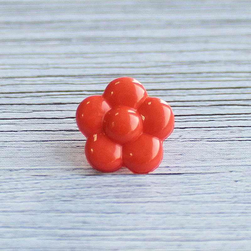 AY 9910 20 Пуговицы детские №D523 оранжевый, 6 шт