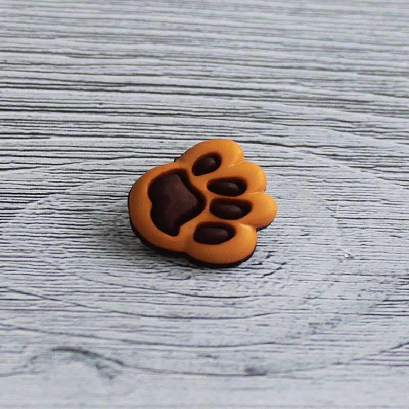 AY 9913 28 Пуговицы детские №568/848 коричневый/оранжевый, 6 шт