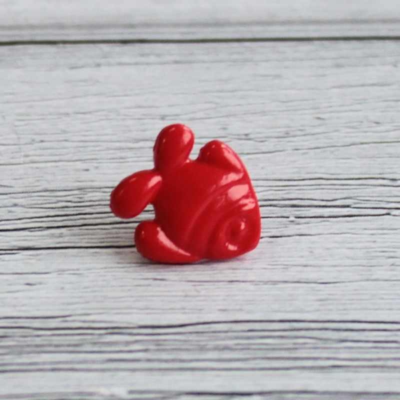 AY 9962 22 Пуговицы детские №D820 красный, 6 шт