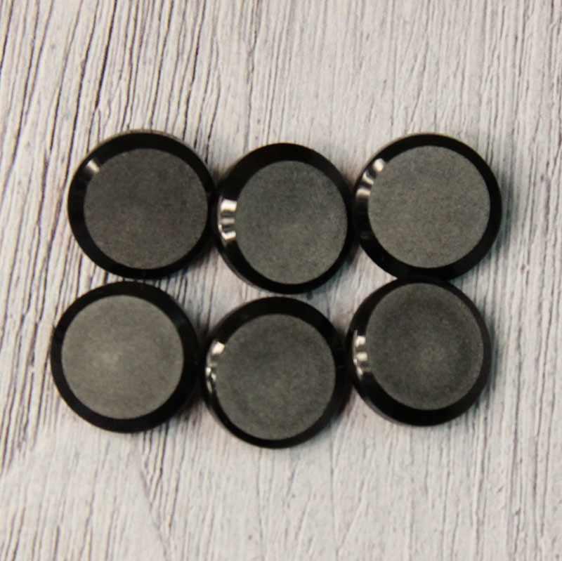 LQ 0033 24 Пуговицы костюмные на ножке-1 № A008 черный, 6 шт