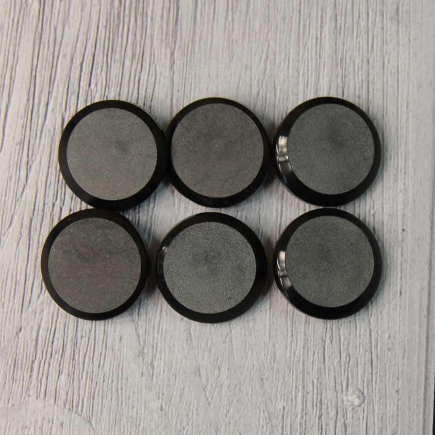 LQ 0033 32 Пуговицы костюмные на ножке-1 № А008 черный, 6 шт