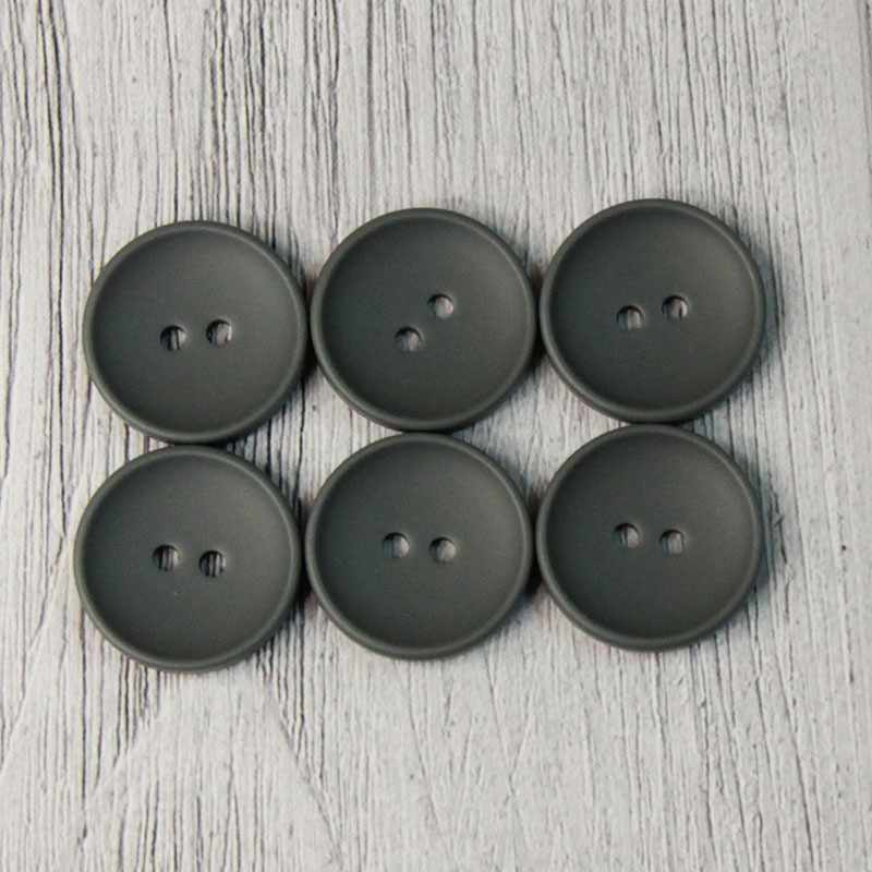 CRZ 0008 32 Пуговицы костюмные с проколами-1 №D578 темно-серый, 6 шт